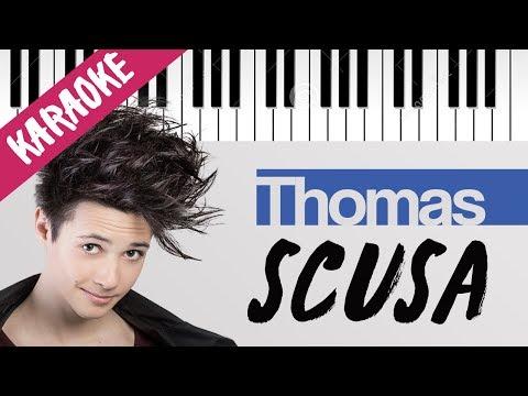 Thomas | Scusa | AMICI 16 | Piano Karaoke con Testo