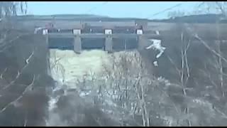 Сброс воды Чаглинского водохранилища 04.04.2016  Кокшетау