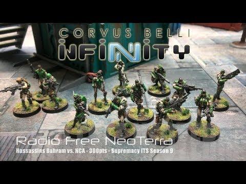 Radio Free NeoTerra Ep 74 - Infinity N3 Battle Report - NCA vs. Hassassin Bahram