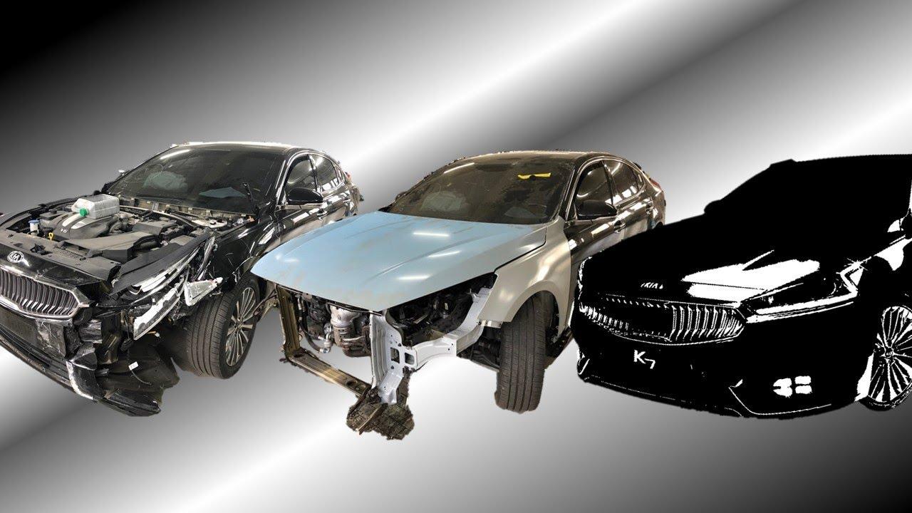 [진스타TV]네..같은 차 맞습니다.. 에어백 터진 K7 사고 차량 수리과정 공개!! KIA - K7