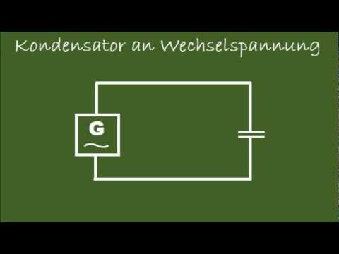 Kondensator an Wechselspannung - YouTube