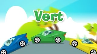 Learn Colors with Cars in French for Kids - تعليم ألوان السيارات باللغة الفرنسية للاطفال