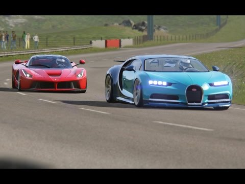 Battle Ferrari LaFerrari vs Bugatti Chiron at Highlands