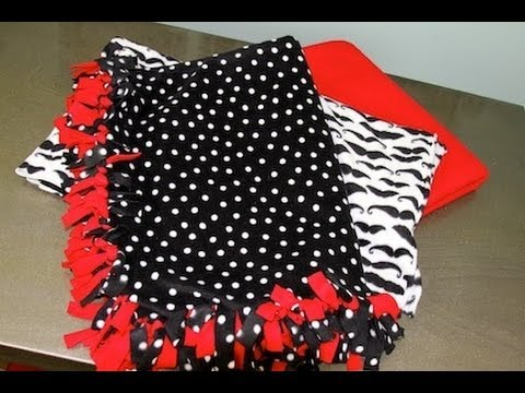 DIY: No Sew Fleece Blankets   ShowMeCute - YouTube