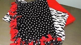 DIY: No Sew Fleece Blankets | ShowMeCute