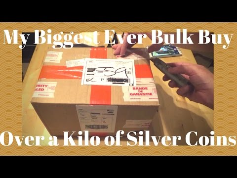 My Biggest Ever Bulk Buy Over a Kilo of Silver Coins