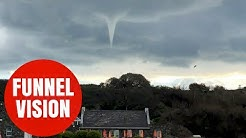 Stunning video of tornado-like funnel cloud, spotted in the Channel Islands