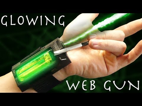 Make a SPIDER-MAN WEB SHOOTER! - Glow In The Dark Webs!!!