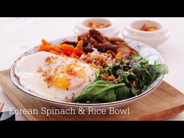 A Spinach Rice Bowl Recipe