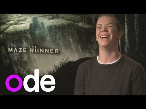 The Maze Runner: Will Poulter gives us his best accents and plays The Junket Runner game