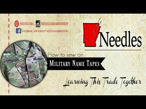 How To Remove Velcro From Military Name Tapes | Needles Embroidery