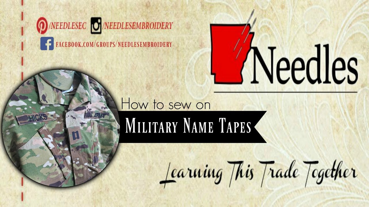359999a87bc6 How to remove Velcro from Military name tapes | Needles Embroidery