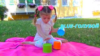 Dominika Funny Baby play with Pyramid
