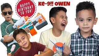 Happy Birthday Owen ke-9 VLOG!! Sushi Dinner Party! TheRempongsHD