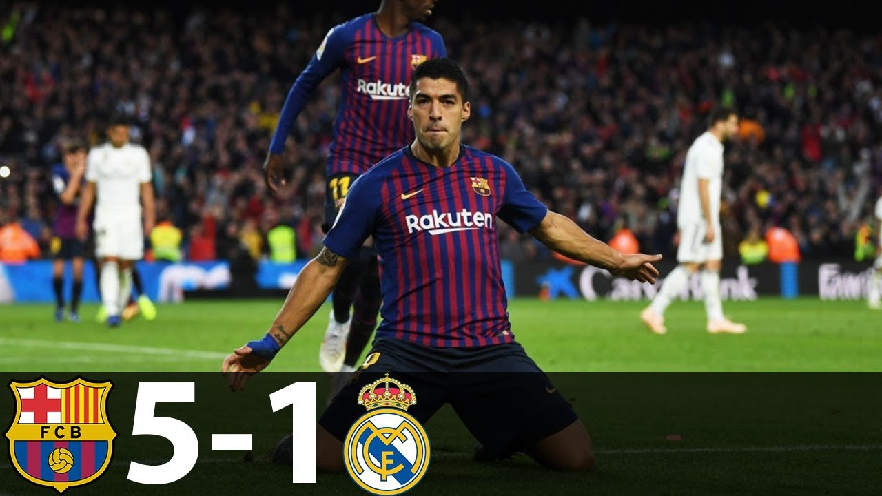 Download Barcelona vs Real Madrid 5-1 - All Goals & Extended Highlights 2018 HD