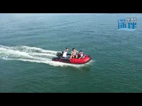 AQUOS INFLATABLE BOAT3.6M+MERCURY 15p TROLLING MOTER SAILING SHOW        FROM YANTAI  CITY,CHINA