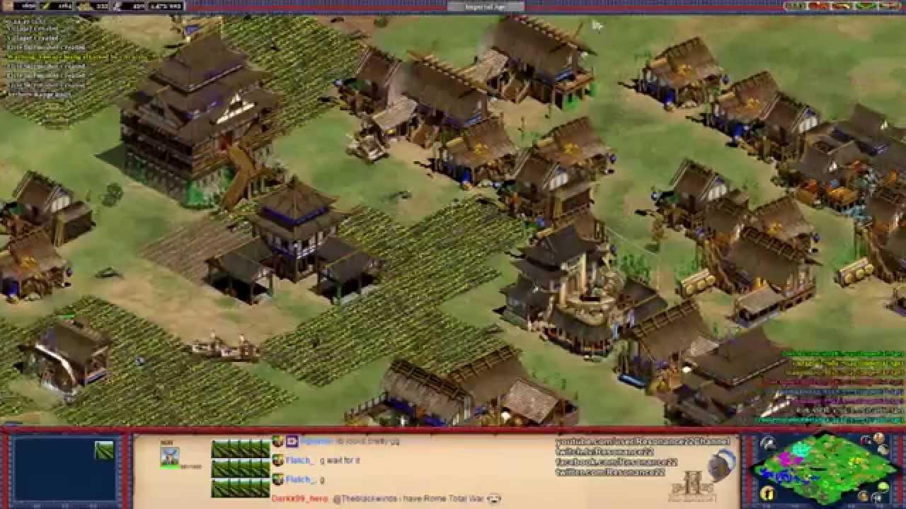 Aoe2 HD: 4v4 Arabia (Koreans, Knight Rush)