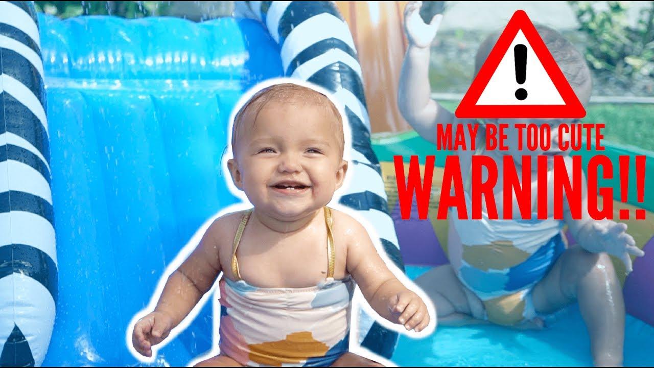 BABY TWINS SUMMER POOL SPLASH HAPPINESS (CUTENESS OVERLOAD) - YouTube