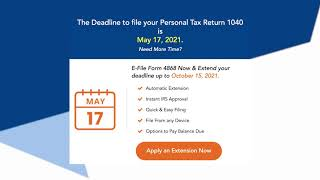 Deadline to File your Federal Personal Income Tax Return 1040 is May 17, 2021