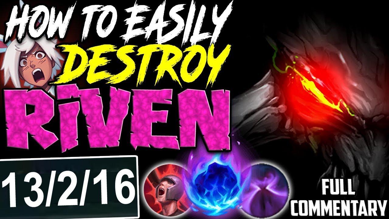 How To Easily Destroy Riven Monstrous Damage Chogath Vs Riven