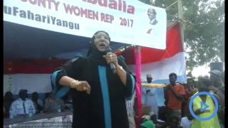Lamu Women Representative calls on locals to vote based on party politics