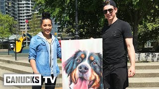 Troy Stecher is Gifted Amazing Dog Painting by Fan