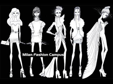 Milan Fashion Campus Disegno Basi Figurini Moda Youtube