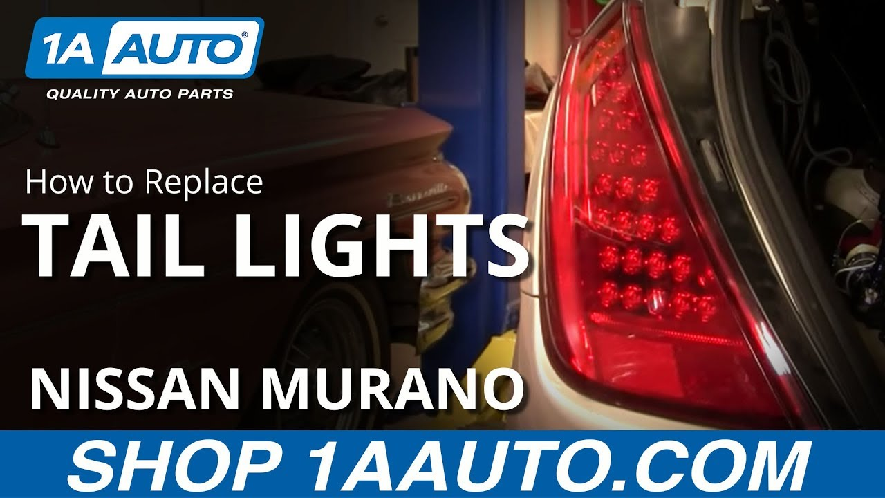 maxresdefault how to install replace broken taillight nissan murano 03 07 1auto Nissan Murano Auto Parts at readyjetset.co