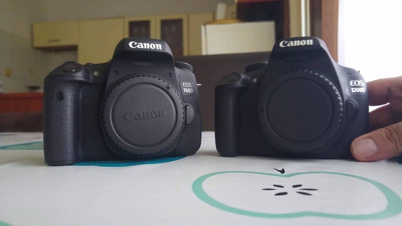 Canon 760d vs 1200d size, layout