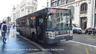 Paris Bus RATP Irisbus Citelis Rt. 20 Gare Saint-Lazare to Bourse