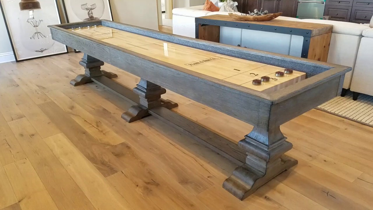 Plank And Hide 12ft Beaumont Shuffleboard Table