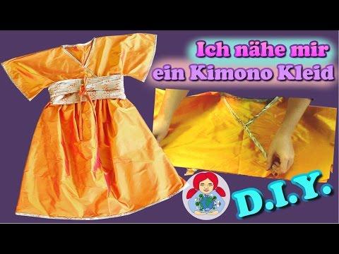 DIY | Kimono Kleid nähen Schritt für Schritt (Damengröße)