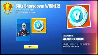 "*NEW* ""BLITZ SHOWDOWN"" LTM in Fortnite Battle Royale! (How To Win 20,000 ""FREE V-BUCKS""!)"
