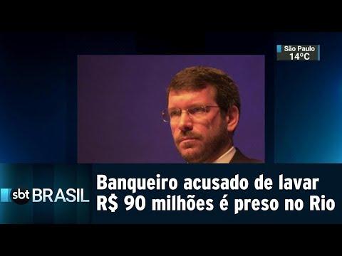 Banqueiro acusado de lavar R$ 90 milhões é preso no Rio | SBT Brasil (03/08/18)