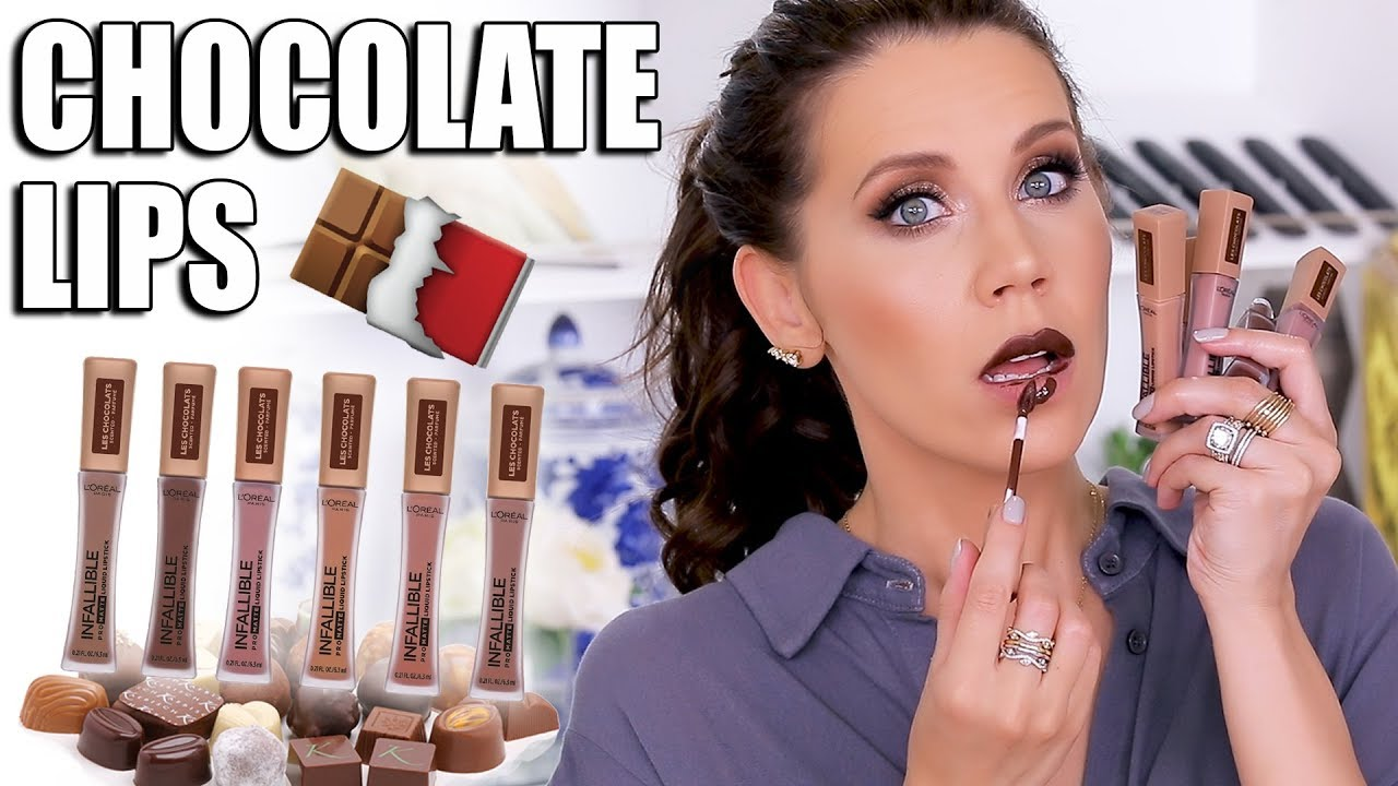 Loreal Chocolate Scented Liquid Lip Youtube