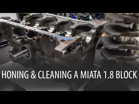Honing & Cleaning A Miata Engine Block