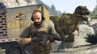 Video GTA 5 Mods - JURASSIC WORLD w/ T-REX ATTACK MOD!! GTA 5 T-Rex Mod Gameplay! (GTA 5 Mods Gameplay) download MP3, 3GP, MP4, WEBM, AVI, FLV Juli 2018