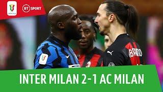 Inter Milan v AC Milan (2-1) | Eriksen winner after Zlatan sent off | Coppa Italia Highlights