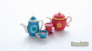 как слепить из пластилина Плей До чайник. How to make a kettle  of Play-Doh (clay)