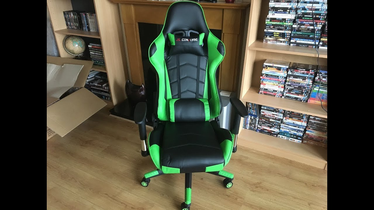 My New Jl Comfurni Gaming Chair Assembly Youtube