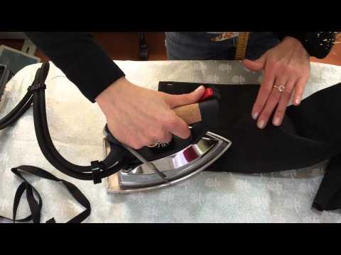 Как приклеить ленту на брюки