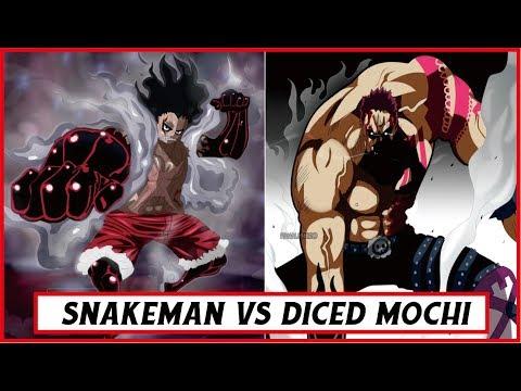 Sengit!! Gear 4 snakeman vs Diced Mochi CP.895  ( One Piece )