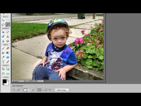 The Auto Select tool in Photoshop Elements 2018