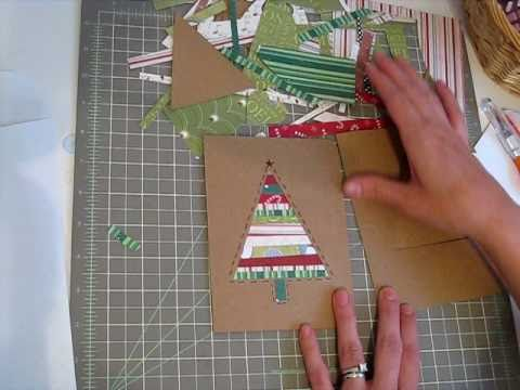 Super Fast Patchwork Christmas Card YouTube