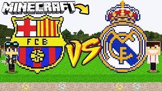 ZAMEK FC BARCELONA VS ZAMEK REAL MADRYT W MINECRAFT!