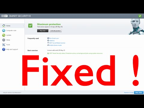 How to fix eset update error !