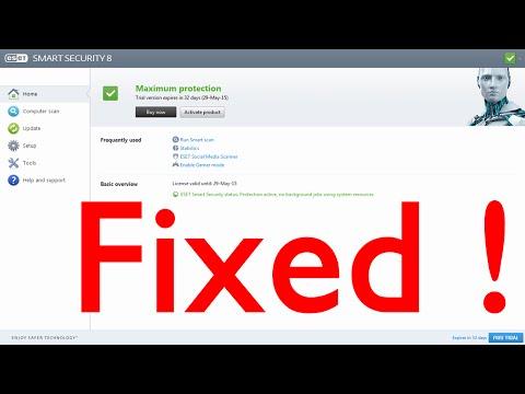 How to fix eset update error !