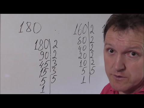 Как разложить число на простые множители 6 класс