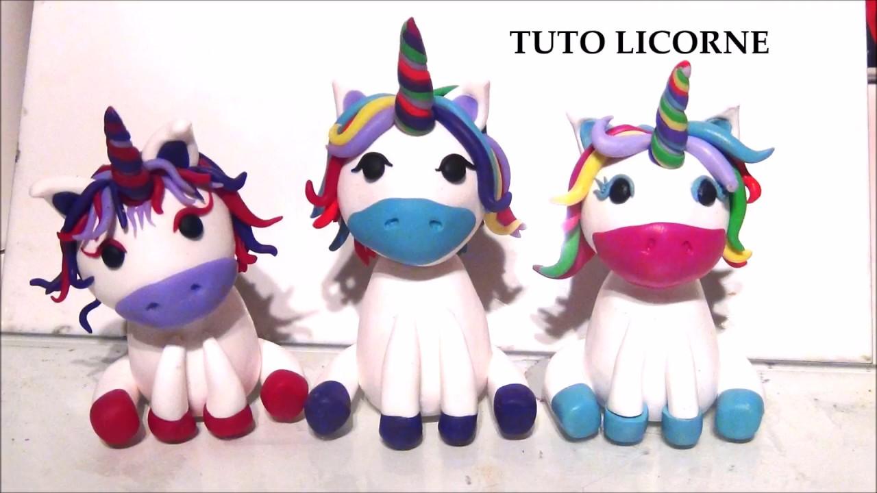Tuto Fimo Licorne Unicorn Polymer Clay Tutorial Youtube