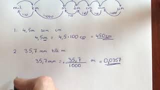 Avstånd omvandla längd enheter mil, km, m, dm, cm, mm